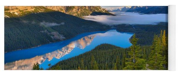 Peyto Lake Spring Morning Reflections Yoga Mat