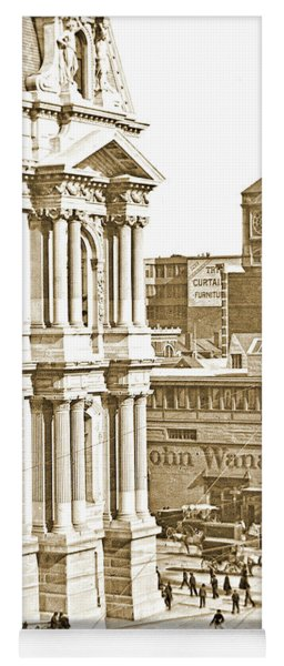 Philadelphia City Hall And Wanamaker Store C 1900 Vintage Photog Yoga Mat