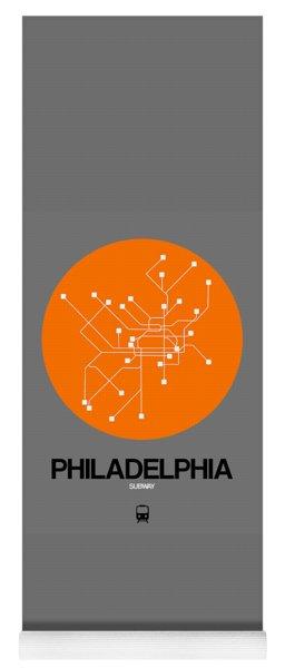 Philadelphia Orange Subway Map Yoga Mat