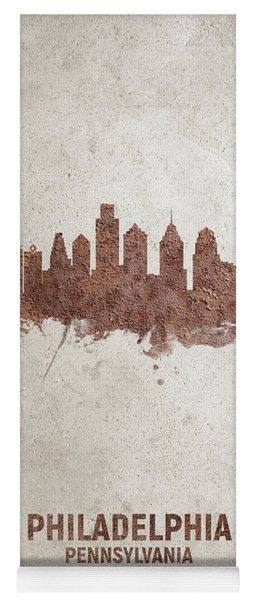 Philadelphia Pennsylvania Rust Skyline Yoga Mat