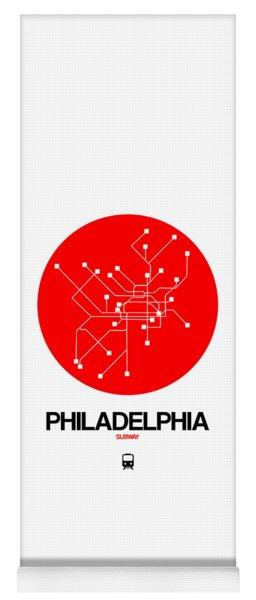 Philadelphia Red Subway Map Yoga Mat
