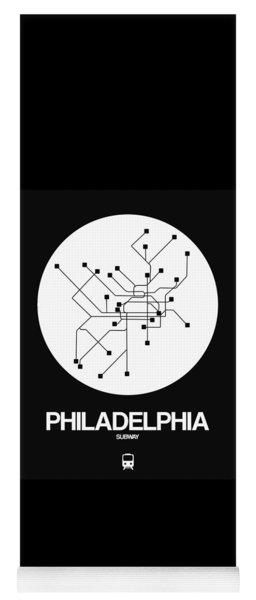 Philadelphia White Subway Map Yoga Mat