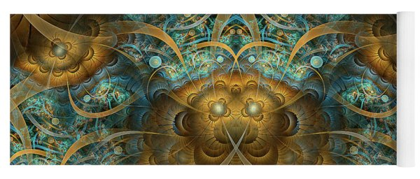 Yoga Mat featuring the digital art Philippians by Missy Gainer