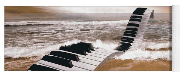 Piano Fantasy Yoga Mat