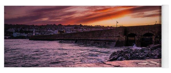 Pier To Pier Sunset Yoga Mat