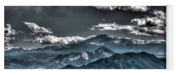 Pikes Peak And Clouds Yoga Mat