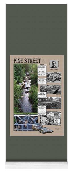 Pine Street Bridge, Nevada City, Ca Yoga Mat
