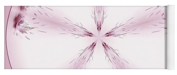 Pink Abstract In A Circle Yoga Mat