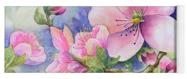 Pink Blossoms Yoga Mat
