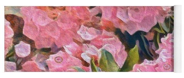 Pink Bougainvillea Yoga Mat