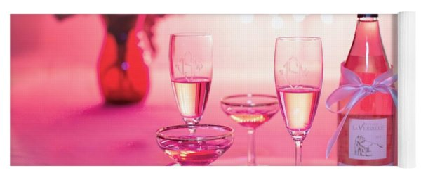 Pink Champagne Yoga Mat