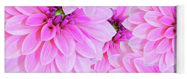 Pink Dahlia Flower Design Yoga Mat