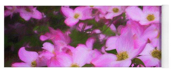 Pink Dogwood Flowers  Yoga Mat