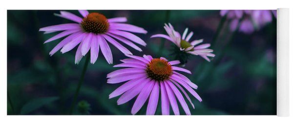 Pink Echinacea Yoga Mat