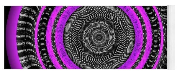 Yoga Mat featuring the digital art Pink Eye by Visual Artist Frank Bonilla