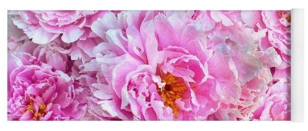 Pink Flowers Everywhere Yoga Mat