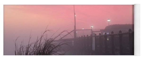 Yoga Mat featuring the photograph Pink Fog At Dawn by Robert Banach