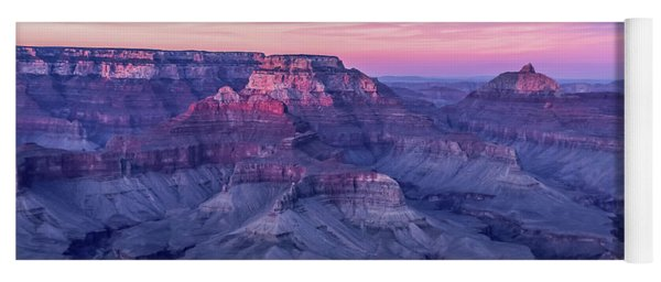 Pink Hues Over The Grand Canyon Yoga Mat