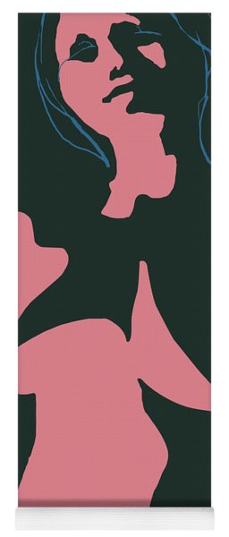 Yoga Mat featuring the digital art Pink Nude by Attila Meszlenyi