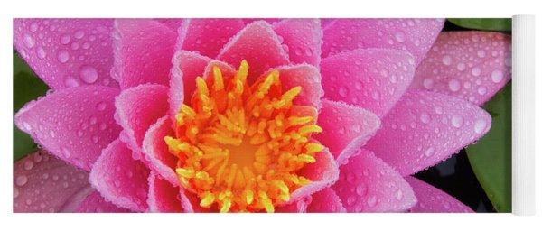 Pink Petals In The Rain  Yoga Mat