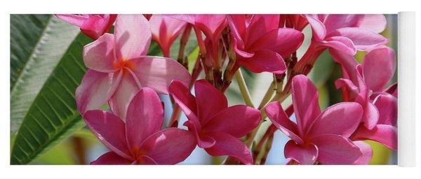 Pink Plumeria Square Yoga Mat