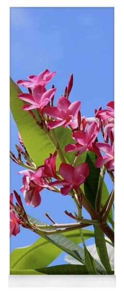 Pink Plumeria With Blue Sky Yoga Mat