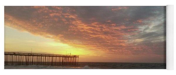 Pink Rippling Clouds At Sunrise Yoga Mat