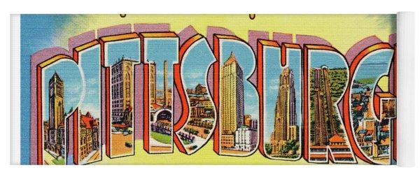 Pittsburgh Greetings Yoga Mat