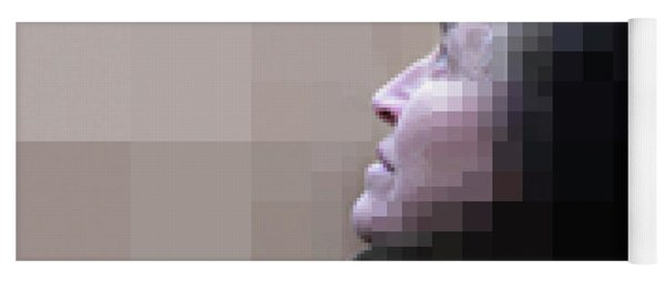 Pixel Portrait Yoga Mat