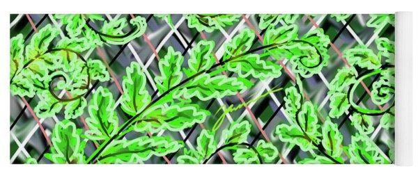 Plaid Ferns Yoga Mat