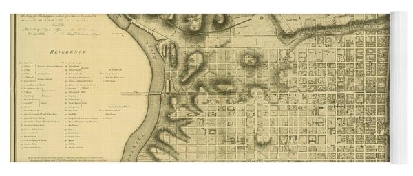 Plan Of The City Of Philadelphia And Its Environs Shewing The Improved Parts, 1796 Yoga Mat