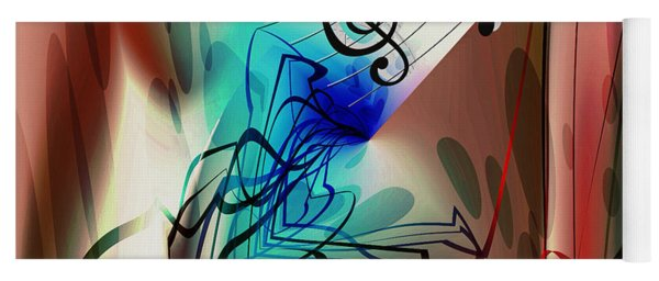 Playing The Piano Abstract Yoga Mat