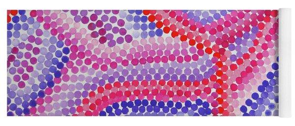 Pointillism - Red To Purple Yoga Mat