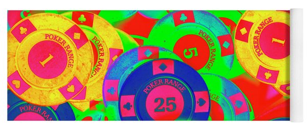 Poker Stacks Yoga Mat