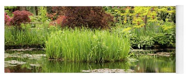Pond Reflections In Monet's Garden Yoga Mat
