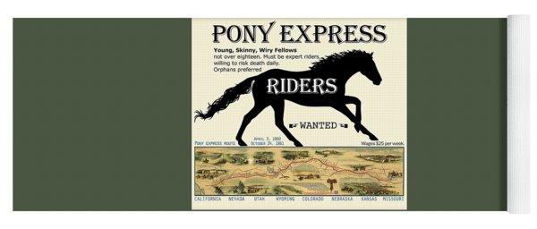 Pony Express Want Ad Yoga Mat