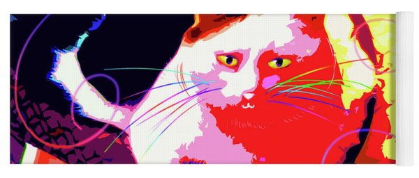 Pop Cat Toby Yoga Mat