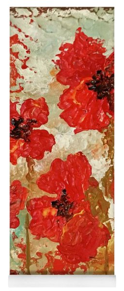 Yoga Mat featuring the painting Poppies by Elizabeth Mundaden