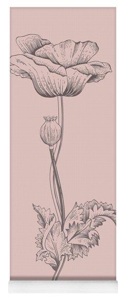 Poppy Blush Pink Flower Yoga Mat