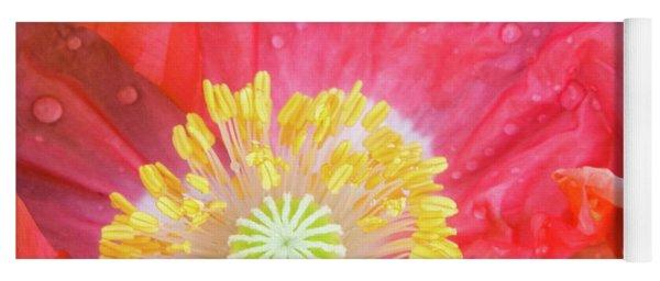 Poppy Closeup Yoga Mat