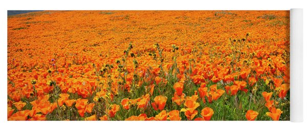 Poppy Fields Forever Yoga Mat