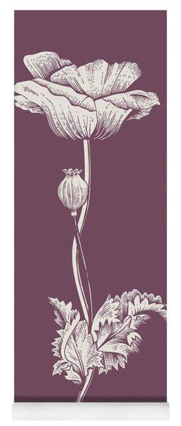 Poppy Purple Flower Yoga Mat