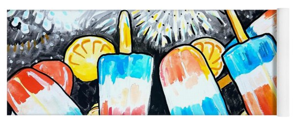 Popsicles And Fireworks Yoga Mat