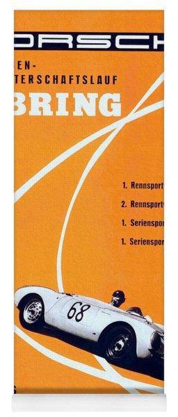 Porsche Sebring Vintage Racing Poster Yoga Mat