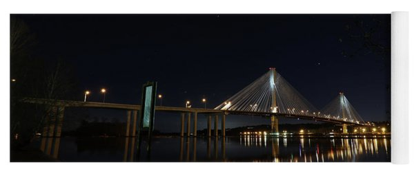Port Mann Bridge With Blood Moon Yoga Mat