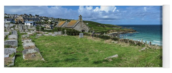 Porthmeor From Barnoon - St Ives Cornwall Yoga Mat