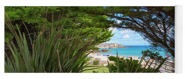 Porthminster Behind The Trees - St Ives Cornwall Yoga Mat