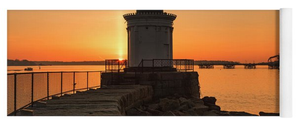 Portland Breakwater Lighthouse - Portland Harbor, Maine Yoga Mat