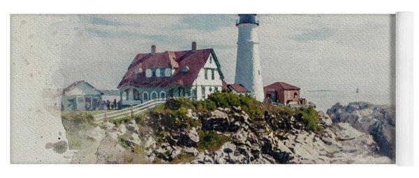 Portland Head Lighthouse Cape Elizabeth Maine Yoga Mat