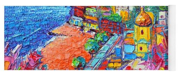Positano Colors Amalfi Coast Italy Impasto Textural Palette Knife Oil Painting Ana Maria Edulescu  Yoga Mat